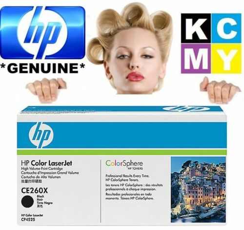 HP GENUINE/ORIGINAL CE260X 649X BLACK LASER PRINT TONER CARTRIDGE CP4520(CE260A)