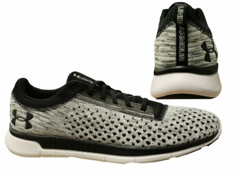 Under Armour Lightning2 Black Whit Lace Up Mens RunningTrainers 3000013 001 X6AB <br/> RRP £80.00