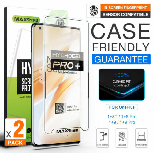 For OnePlus 7 9 Pro 8T Maxshield HYDROGEL FLEXIBLE Crystal Film Screen Protector