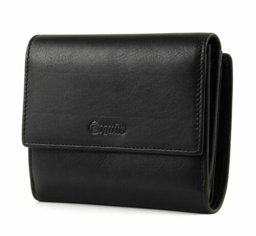 Esquire RFID Small Wallet With Flap Black