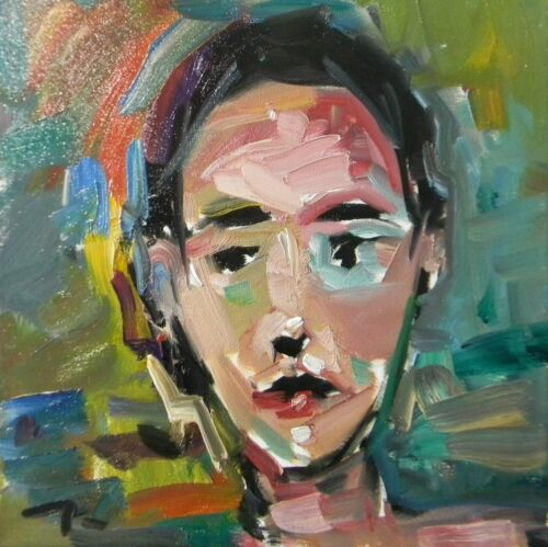 JOSE TRUJILLO - NEW ART OIL PAINTING EXPRESSIONIST FAUVISM PORTRAIT SIGNED COA