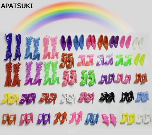 40 pairs Colorful Assorted shoes for Barbie Doll Mix styles Toy Christmas Gifts