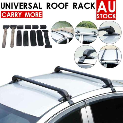 Car Top Roof Rack Cross Bars Aluminum Alloy Aero Lockable Universal New Arrived