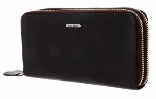 bruno banani Double Zip Around Wallet Brown