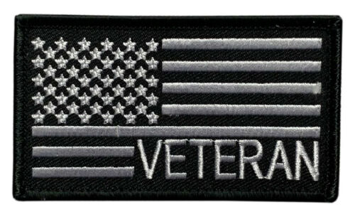 """Veteran USA Flag Tactical Patch [""""Velcro Brand"""" Fastener - 3.5 X 2.0 V-8]Army - 48824"""