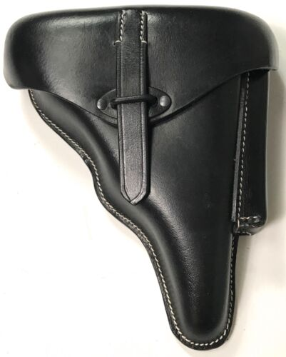 WWII GERMAN WALTHER P38 PISTOL HARD SHELL HOLSTER- BLACK LEATHERGermany - 156432