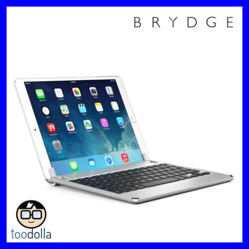 BRYDGE 10.5 Bluetooth Keyboard with backlit keys, iPad Pro 10.5 / Air 3, Silver