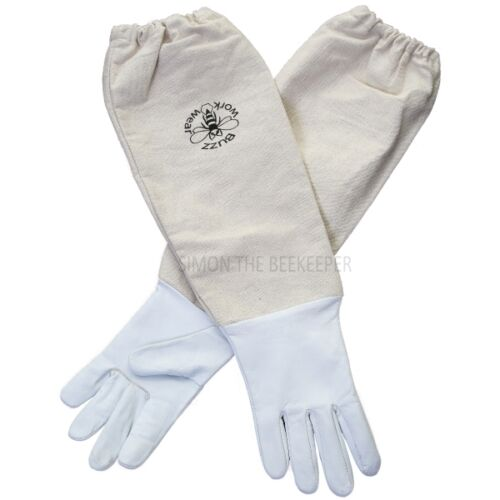 Children's Bee gloves - White leather - 2XS