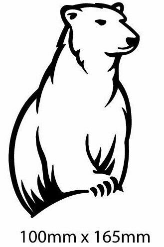 Bundaberg Rum Bundy Bear Shaped Sticker Sticker Man Cave Birthday Fathers Day