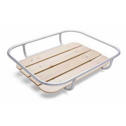 Bike Basket Front Tray With Wooden slats on Alloy Frame