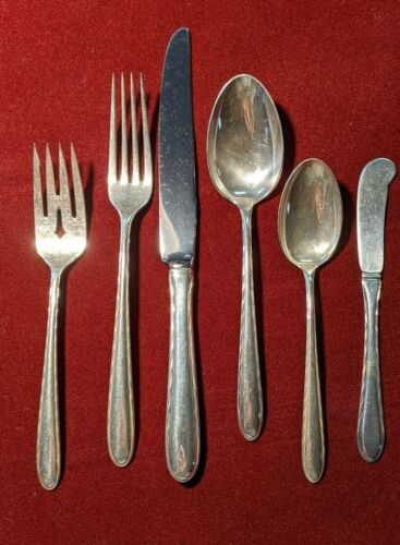 Towle Sterling Silver 6-Piece Place Setting Silver Flutes Pattern - No Monogram
