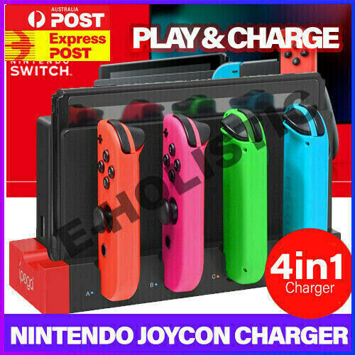 Joy Con Controller Charging Stand Dock Charger Nintendo Switch Animal Crossing
