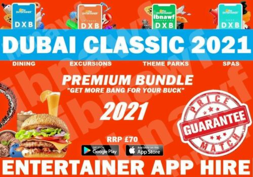#2 Dubai Classic ENTERTAINER 2021 • Casual Food + Fun + More • 8 Day App Hire <br/> 8-Day App Hire. Never knowingly undersold.