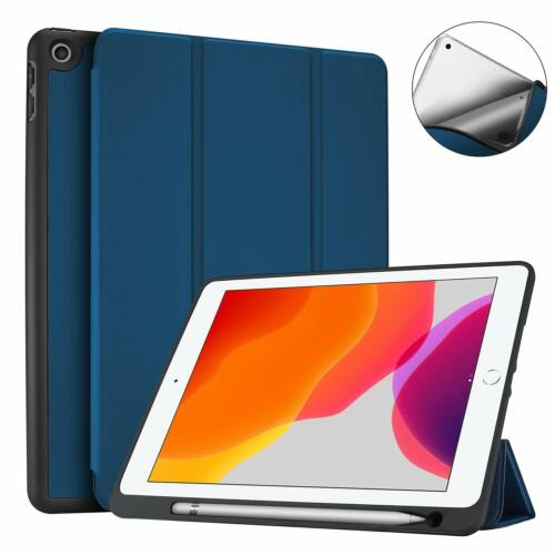Case for iPad 10.2 inch 2019 (7th Gen) With Pencil Holder Back Cover Ultra Slim