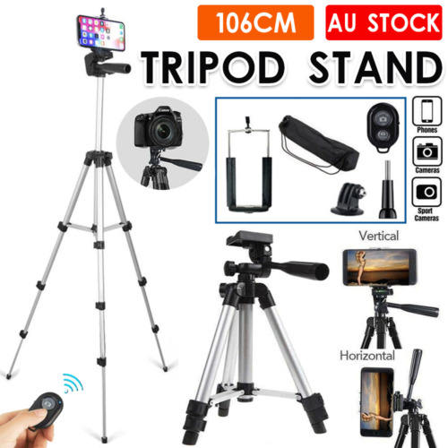 Professional Camera Tripod Stand Mount + Phone Holder for Phone iPhone Samsung