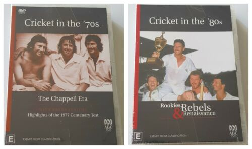 2 x Lot of Cricket In The 70's / Cricket In The 80's ABC Documentary NEW SEALED