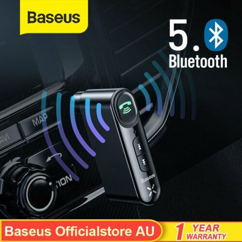 Baseus Wireless Bluetooth Receiver 3.5mm AUX Audio Music Car Adapter With Mic