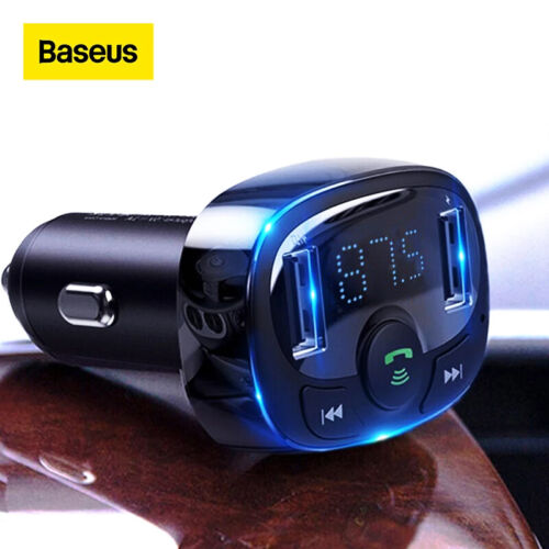 Baseus Handsfree Wireless Bluetooth Car FM Transmitter MP3 Music Player Adapter