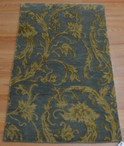 2 x 3 KPSI 150 Contemporary Modern Design Hand Knotted 100% Wool Area Rug Mat
