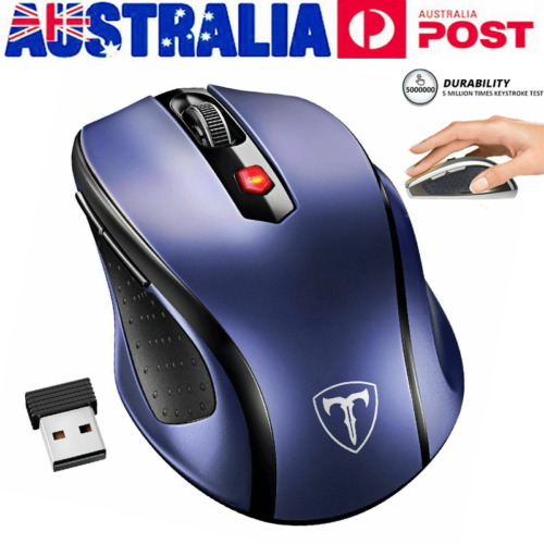 Wireless 2.4Ghz 2400 DPI  Optical Gaming Mouse Mice USB Receiver Quiet Click AU