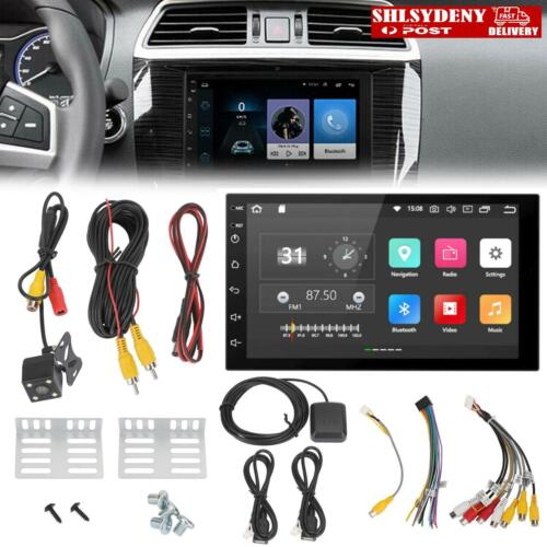 """7"""" HD Stereo BlueTooth Player+Camera GPS Navigation Double DIN Car Android 8.1 S"""