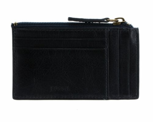 FOSSIL Caine Card Case Navy