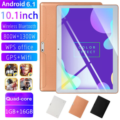 10.1 in 3G Unlocked Quad Core Kids Tablet PC Android 6.0 APPs for Learn Dual SIM
