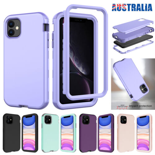 For iPhone 11 Pro Max SE 7 8 Case Hybrid Rubber Shockproof Heavy Duty Hard Cover