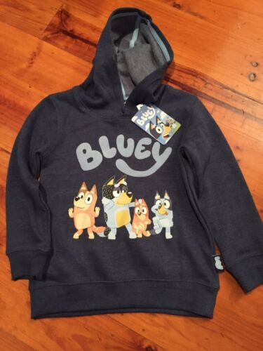 Bluey Kids Boys Blue Hoodie Jumper top New with tags various sizes ABC Kids