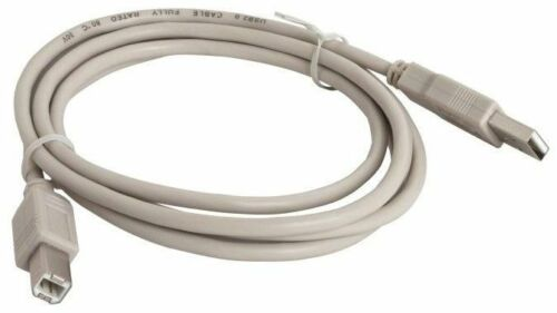 USB 1m Type A - B Cables USB2 2.0 Beige For Printer HP Canon Epson Xerox Printer