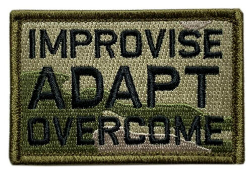 """Improvise Adapt Overcome Patch [3.0 X 2.0 """"Velcro Brand"""" Fastener - MM-3]Army - 48824"""