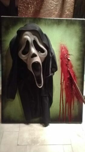 SCREAM horror art  sculpture 3D PAINTING