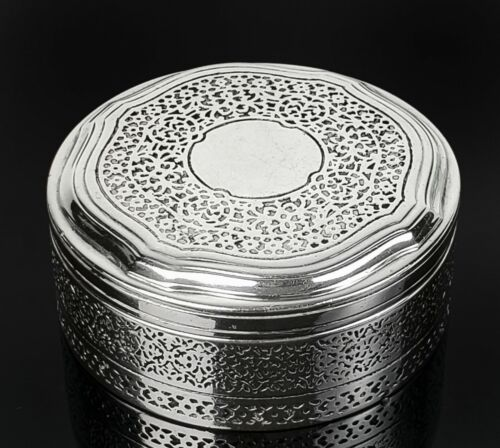 Tiffany & Co Makers Sterling Silver Pill Trinket Box Pattern 21054A ~ RARE!