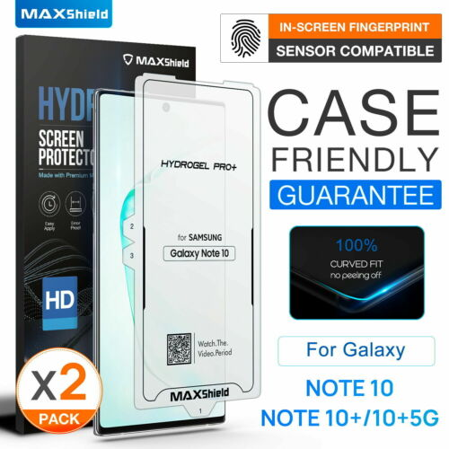 For Samsung Galaxy Note 10 Plus Hydrogel Case Friendly Film Screen Protector