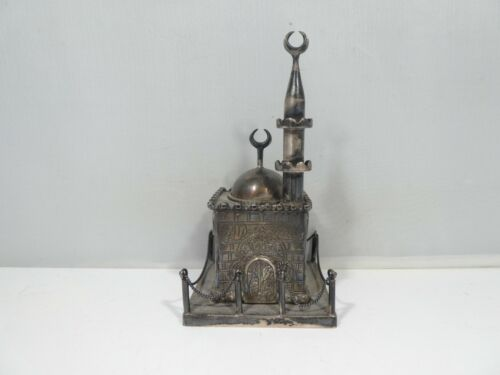 STERLING SILVER MOSQUE WITH MINARET 70 DWT