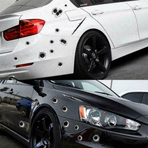 3d Bullet Holes Car Sticker-scratch Decal-waterproof Stickers Motorcycle P2q3