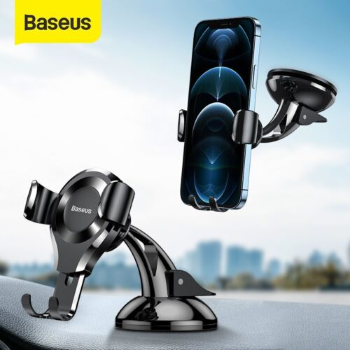 Baseus 360° Car Phone Holder Gravity Dashboard Suction Mount Stand For Universal