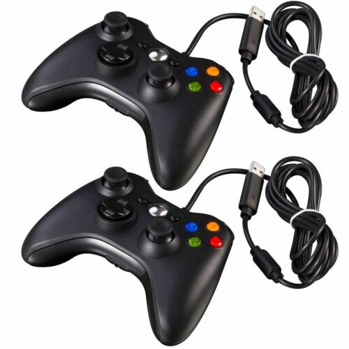 1//2PCS Black White Wired USB Console Gamepad Controller Joypad For PC Windows
