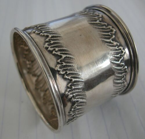 A Beautiful Antique Silver 800 Napkin  Ring