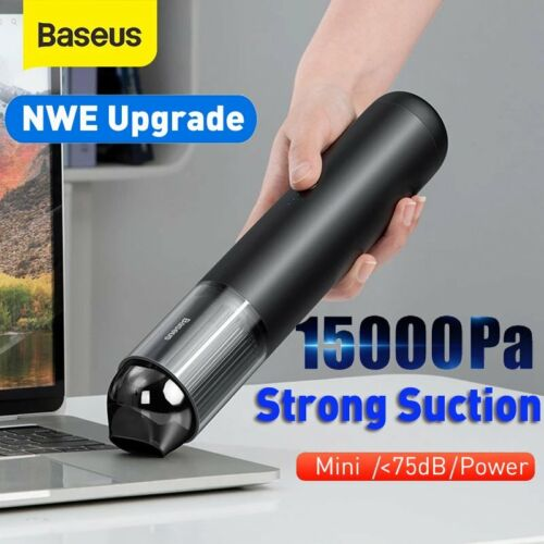 Baseus 5000Pa Car Vacuum Cleaner Powerful Suction Mini Cordless Portable Duster <br/> ⭐⭐⭐⭐⭐5000Pa Suction ⚡44000r/min⚡Sameday Dispatch