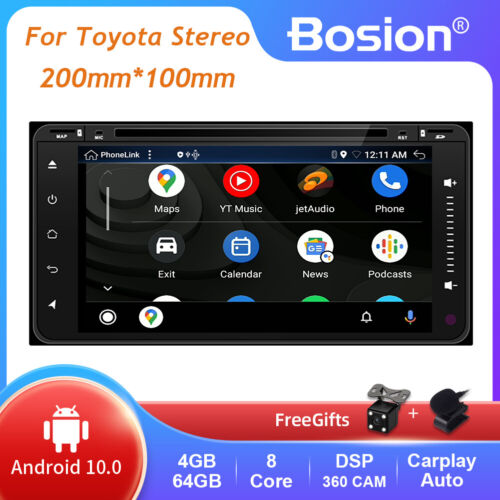 4GB+64GB Android 10.0 Car Stereo For Toyota Prado Hilux RAV4 Head unit Navi GPS