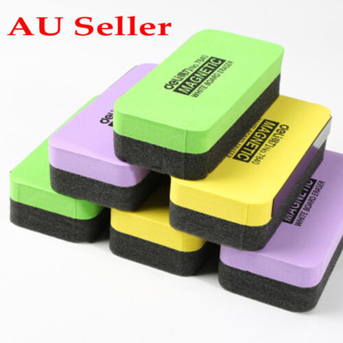 Whiteboard Eraser Colored Magnet Blackboard Cleaner Foam Chalk Drywipe