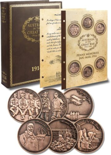 Great War 1914 Diary w/S1 Penny Set & Diary pages