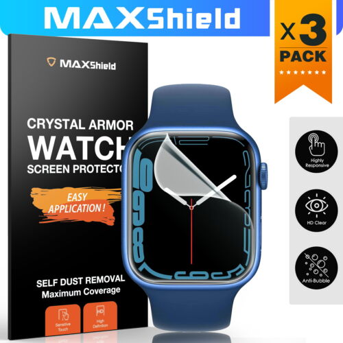 MaxShield Screen Protector Apple Watch Series 6 5 4 3 2 SE 38/40/42/44mm iWatch
