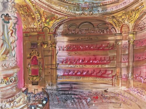 The Opera, Paris, early 1930's by Raoul Dufy Art Print Modern Poster 11x14
