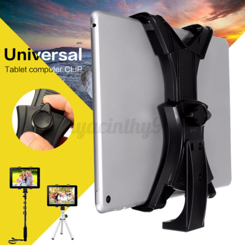 "Universal Tripod Mount Holder Bracket 1/4"" Thread Adapter for iPad 7~10.1""Tablet"