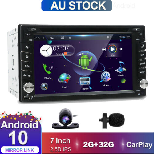 2 Din Android 10.0 Car Stereo Head unit GPS CD/DVD FM/AM Radio WiFi DAB+OBD BT