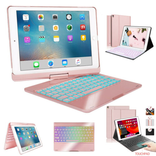 """For iPad 7th Gen 10.2"""" 2019 Bluetooth Keyboard Case Stand with Backlit keys US"""