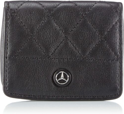 Mercedes Vera Pelle Nero Alta Qualità Genuine Leather Accessorio Portamonete New