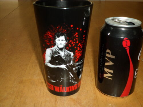 """[AMC] THE WALKING DEAD - """" DARYL """", PINT BEER GLASS / CUP, Vintage"""